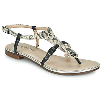 Chaussures Femme Sandales et Nu-pieds JB Martin 2GAELIA Noir / Beige