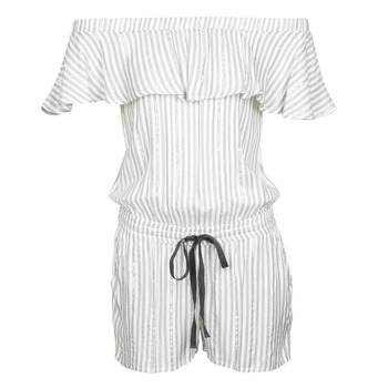 Vêtements Femme Combinaisons / Salopettes Deeluxe FAYME Blanc / Bleu