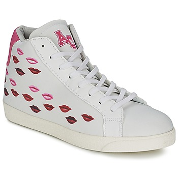 Chaussures Femme Baskets montantes American College KISS KISS Blanc / Rouge
