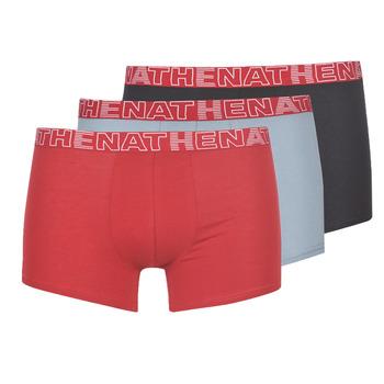 Sous-vêtements Homme Boxers Athena BASIC COLOR Noir / Bordeaux / Gris