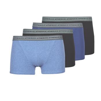 Sous-vêtements Homme Boxers Athena BASIC COTON Bleu / Noir / Bleu / Noir