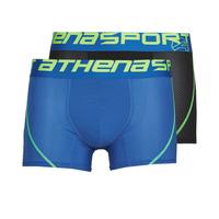 Sous-vêtements Homme Boxers Athena AIR PERFORMANCE X2 Noir / Bleu
