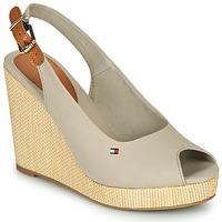 Chaussures Femme Sandales et Nu-pieds Tommy Hilfiger ICONIC ELENA SLING BACK WEDGE Grey