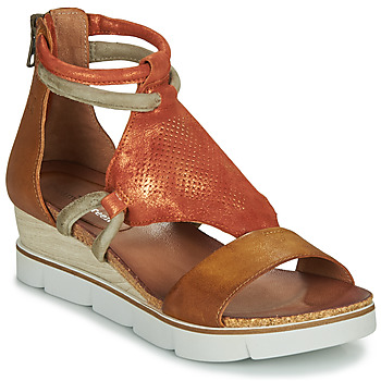 Chaussures Femme Sandales et Nu-pieds Dream in Green IRABIEN Camel / Ocre