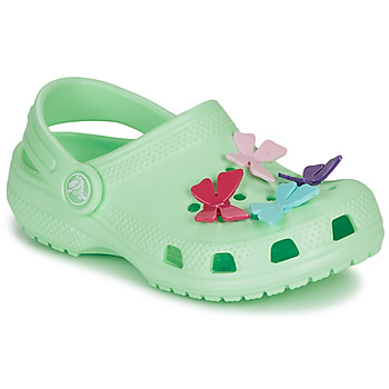 Chaussures Fille Sabots Crocs CLASSIC BUTTERFLY CHARM CLG PS Vert clair