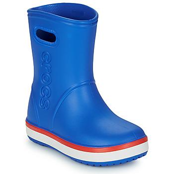 Chaussures Enfant Bottes de pluie Crocs CROCBAND RAIN BOOT K Bleu / rouge