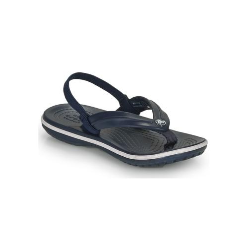 Chaussures Enfant Tongs Crocs CROCBAND STRAP FLIP K Marine