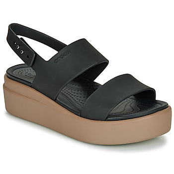 Chaussures Femme Sandales et Nu-pieds Crocs CROCS BROOKLYN LOW WEDGE W Noir / Camel