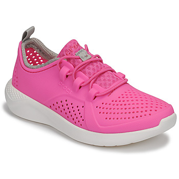 Chaussures Fille Baskets basses Crocs LITERIDE PACER K Rose / Blanc
