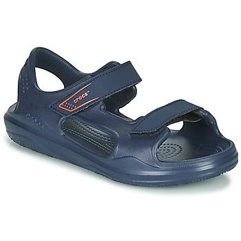 Chaussures Enfant Sandales et Nu-pieds Crocs SWIFTWATER EXPEDITION SANDAL K Marine