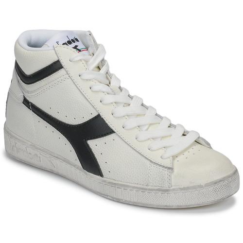 Chaussures Baskets montantes Diadora GAME L HIGH WAXED Blanc / noir