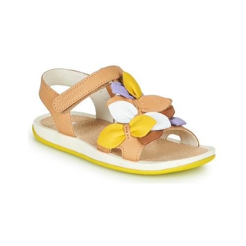 Chaussures Fille Sandales et Nu-pieds Camper TWINS Marron / jaune
