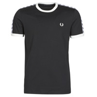 Vêtements Homme T-shirts manches courtes Fred Perry TAPED RINGER T-SHIRT Noir