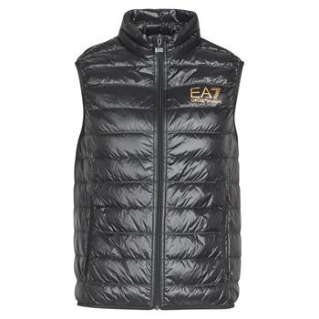 Vêtements Homme Doudounes Emporio Armani EA7 CORE ID 8NPQ02 Noir / Doré