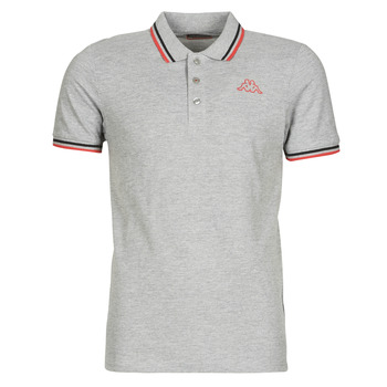 Vêtements Homme Polos manches courtes Kappa ESMO GREY COLD MEL/BLACK/RED