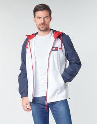 Vêtements Homme Blousons Tommy Jeans TJM COLORBLOCK ZIPTHROUGH JCKT Blanc / Bleu / Rouge