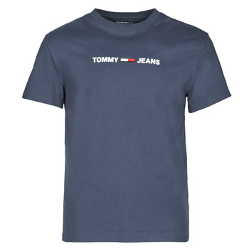 Vêtements Homme T-shirts manches courtes Tommy Jeans TJM STRAIGHT SMALL LOGO Marine