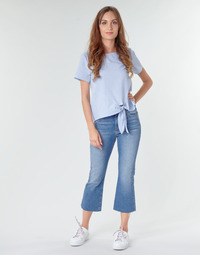 Vêtements Femme Jeans droit Tommy Jeans KATIE CROP FLARE Bleu Medium