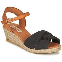 Chaussures Femme Sandales et Nu-pieds Pare Gabia BILMI Noir / Marron