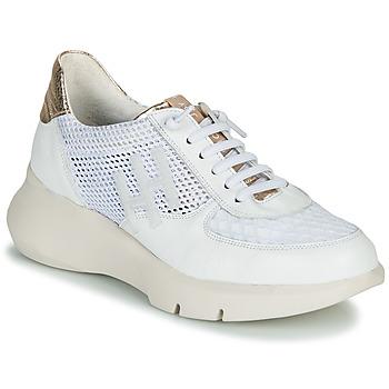 Chaussures Femme Baskets basses Hispanitas CUZCO Blanc / Doré / Rose