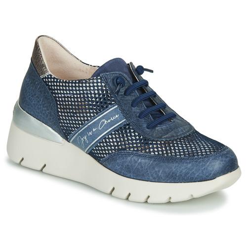 Chaussures Femme Baskets basses Hispanitas RUTH Bleu / Doré / Argenté