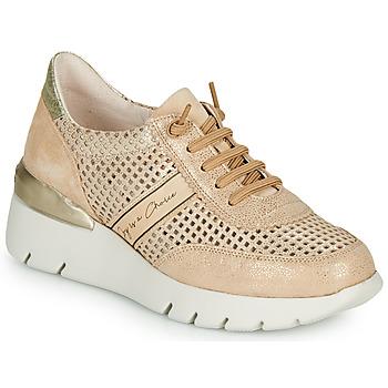 Chaussures Femme Baskets basses Hispanitas RUTH Rose / Doré / Blanc