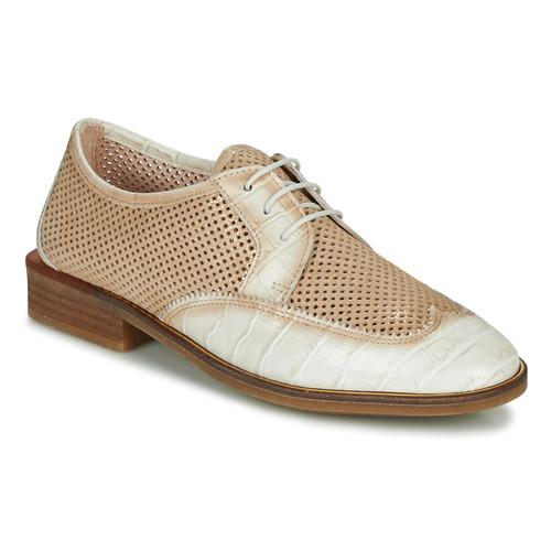 Chaussures Femme Derbies Hispanitas LONDRES Beige / Blanc