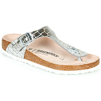 Chaussures Femme Tongs Birkenstock GIZEH Silver