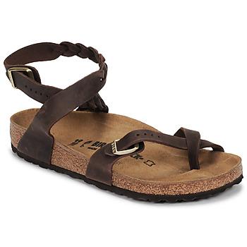 Chaussures Femme Sandales et Nu-pieds Birkenstock YARA LEATHER Marron