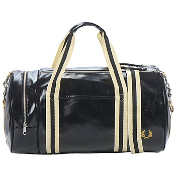 Fred Perry CLASSIC BARREL BAG Noir / Doré