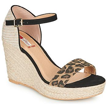 Chaussures Femme Sandales et Nu-pieds S.Oliver NOULATI Noir / Léopard