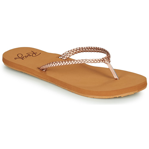 Chaussures Femme Tongs Roxy COSTAS Rose / Doré