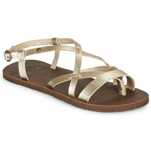 Chaussures Femme Tongs Roxy LAYTON Champagne