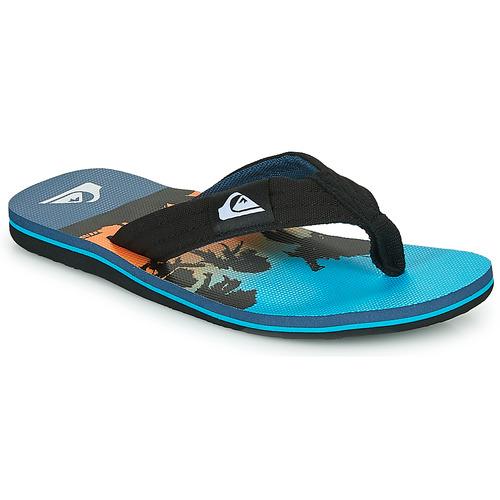 Chaussures Enfant Tongs Quiksilver MOLOKAI LAYBACK Bleu