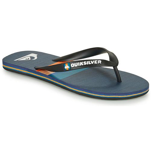 Chaussures Homme Tongs Quiksilver MOLOKAI SEASONS Noir / Bleu / Orange