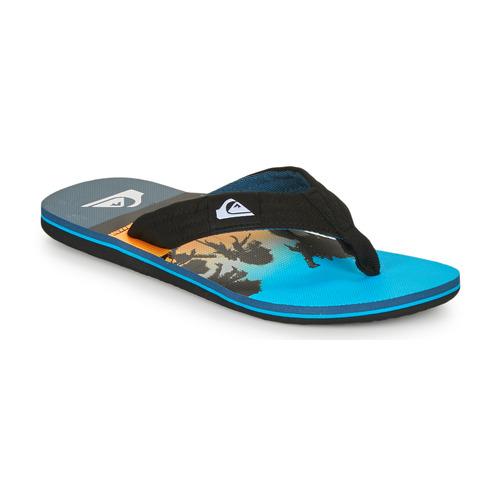 Chaussures Homme Tongs Quiksilver MOLOKAI LAYBACK Bleu / noir