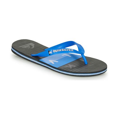 Chaussures Homme Tongs Quiksilver MOLOKAI WOLRDBLOCK Bleu / noir