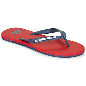 Chaussures Homme Tongs Quiksilver MOLOKAI Rouge / Marine