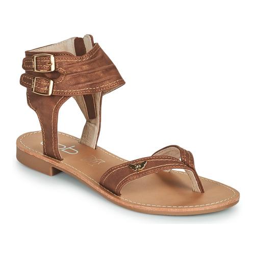 Chaussures Femme Sandales et Nu-pieds Les Petites Bombes CAMEL Camel