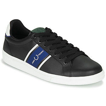 Chaussures Homme Baskets basses Fred Perry B721 LEATHER / WEBBING Noir
