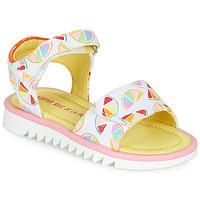 Chaussures Fille Sandales et Nu-pieds Agatha Ruiz de la Prada SMILES Blanc / Multicolor