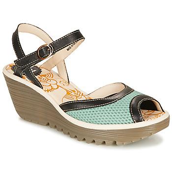 Chaussures Femme Sandales et Nu-pieds Fly London YANS Bleu / Noir