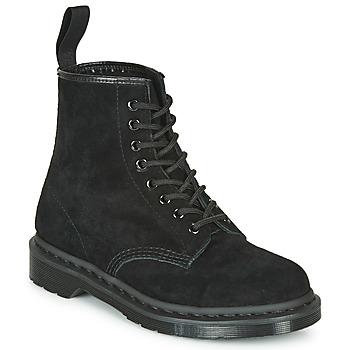 Chaussures Boots Dr Martens 1460 MONO SOFT BUCK Noir
