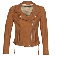 Vêtements Femme Vestes en cuir / synthétiques Oakwood ANGIE Marron