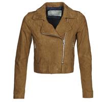 Vêtements Femme Vestes en cuir / synthétiques Oakwood PHOEBE Cognac Suede
