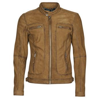 Vêtements Homme Vestes en cuir / synthétiques Oakwood CASTEL Cognac