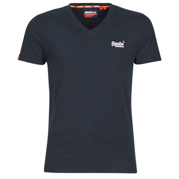 Vêtements Homme T-shirts manches courtes Superdry ORANGE LABEL VNTGE EMB VEE TEE Eclipse Navy