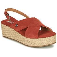 Chaussures Femme Sandales et Nu-pieds Elue par nous GESIEL Rouge