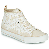 Chaussures Femme Baskets montantes Desigual BETA CROCHET Rose / Blanc