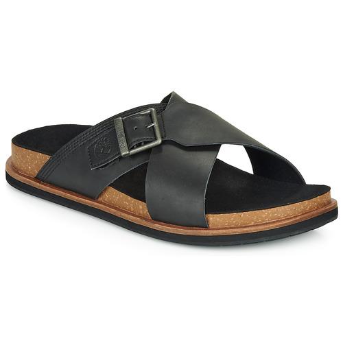 Chaussures Homme Mules Timberland AMALFI VIBES CROSS SLIDE Noir